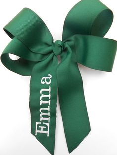 Uniform Monogrammed Name Hair Bow.. U choose by MaciesCustomBowZ, $6.98