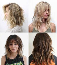 medium length shag haircut for thick hair