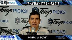 Miami Hurricanes vs. Duke Blue Devils Free NCAA Football Picks and Predi...