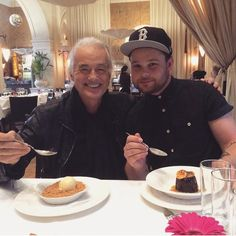 PHOTO: Jimmy Page having lunch with Ben Thatcher from Royal Blood earlier this year (Instagram/jacbosells1711)
