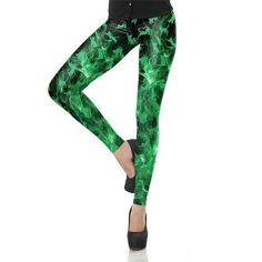 Hot Sale Women Leggings Summer Aurumn Printed Pants Fashion Girl Leggins Cats Pattern Red Green Trousers For Woman Leggings Fashion, Fashion Pants, Girl Fashion, Fashion Women, Fashion 2017, Fashion Clothes, Street Fashion, Printed Yoga Pants, Printed Leggings