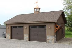 Roosevelt: A-Frame-Style Single Story Garage: The Barn Yard & Great Country Garages Pole Barn Kits, Pole Barn Garage, Garage Shed, Shed Roof, Pole Barns, Storage Shed Plans, Built In Storage, Pole Buildings, Storage Buildings