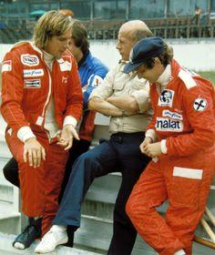 James Hunt, and Nikki Lauda.