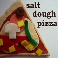 Jennifer's Little World blog - Parenting, craft and travel: Homemade play food - salt dough and felt pizza