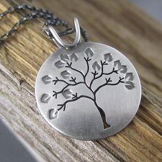 Summer in Michigan Sterling Silver Tree Pendant - Beth Millner Jewelry - 1