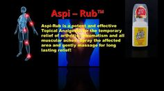 This product is amazing you havet otry  iti f you have any pains. www.aspirub.com