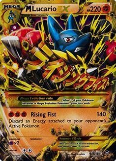 Pokemon M Lucario Ex Ultra Rare Furious Fists 113/111 Pokémon