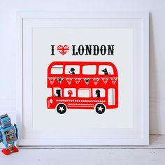 I Love London Print