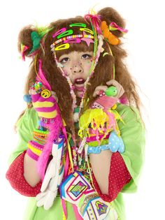 Japanese fashion tribes originated in the early 1990s. I have to say, great colour combination.
