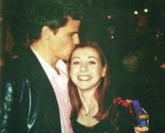 Aww. Angel and Willow (David Boreanaz and Alyson Hannigan)