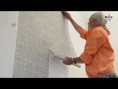 Poser du papier peint intissé - YouTube