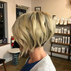 Short Stacked Blonde Bob