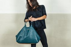 Fashion bag, in teal color