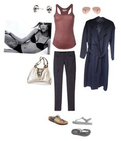 """Sunday Funday"" by sofiasamaniego on Polyvore featuring prAna, Étoile Isabel Marant, Calvin Klein Underwear, Birkenstock, UGG, Ray-Ban, Coach and Kasun"