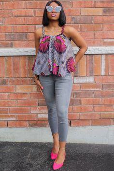 Latest African Fashion Dresses, African Print Fashion, African Outfits, African Clothes, Ankara Tops, Ankara Styles, Ankara Designs, Black Female Model, Female Models