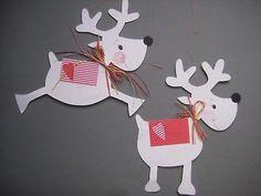 Fensterbild*Tonkarton*Winter*Elche *Weihnachten*