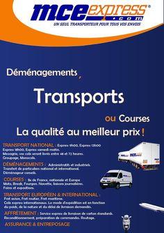 Plaquette de la société de transport MCE Express.