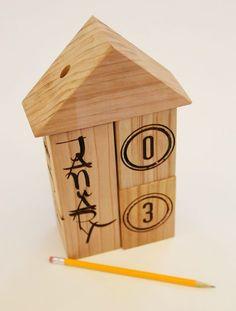 Calendar Blocks #woodworking #laser_cutter #months #date #year
