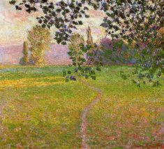 Claude Monet - 1888 Morning Landscape, Giverny oil on canvas - 82 x 81 cm Private Collection