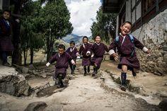 Children coming from the school Photo: Meeri Koutaniemi Bhutan, Beautiful World, Attitude, Around The Worlds, School, Children, Fashion, Young Children, Moda