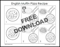 Free Printable Little Red Hen Makes a Pizza Picture Recipe for Kids