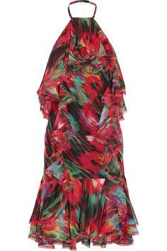 Jason Wu | Ruffled printed silk-chiffon dress | NET-A-PORTER.COM