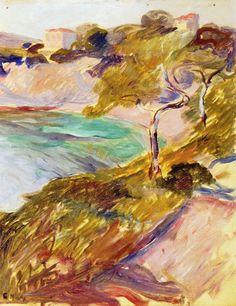 The Athenaeum - Trees by the Mediterranean (Edvard Munch - )