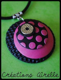 Collection à pois orange/rose/noir  http://www.dollycrazy.com/_fimo/