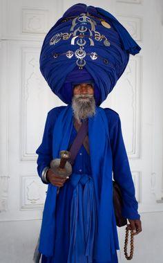 "Indian Sikh Traditional Clothing Delhi / Indigo / Индия ""индиго"""