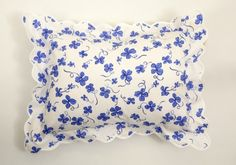 boudoir pillow from D.Porthault  The French linen company's loyal clientele once included Jackie Kennedy, Grace Kelly and the Duchess of Windsor.