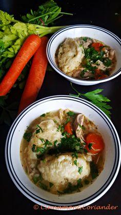 Ein nordamerikanischer Klassiker: Hühnchen - Gemüse - Eintopf mit selbstgemachten, super fluffigen Klößen! Schmeckt wie von Oma mit Liebe gekocht!