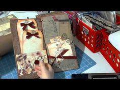 Handmade Wedding Guest Book RED Beautiful by scrapbookgiggles mini album