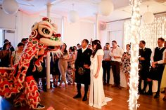 OUR LONDON WEDDING |  Chinese Lion dancing at our wedding.