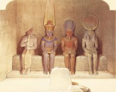 During his trip to Egypt and the Near East the Scottish painter David Roberts reproduced important monuments of Pha.