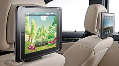 iPad Docking Station accessory in new Mercedes C-Class.  Not only holds it in place, but charges it as well