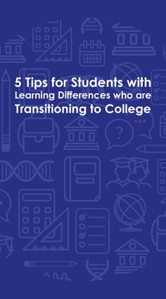 Transitioning from high school to college can be overwhelming. It can be even more challenging if you have a learning disability. High School Students, College Students, College Survival Guide, College Success, Learning Disabilities, Aspergers, Autism Spectrum, Study Tips, Disability
