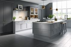 Browse our range of shaker style kitchens at Wren Kitchens. Choose from beautiful, simplistic shaker cabinets and enjoy up to OFF our multi-buy offers! Shaker Style Kitchens, Kitchen Appliances Layout, Kitchen Fittings, Slate Kitchen, Wren Kitchen, Kitchen Styling, Kitchen Layout, Modern Kitchen Design, Kitchen Design