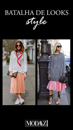 O duo saia plissada + tricô é super trend para esse inverno! #modaazoficial #trend #winter #outfit Lace Skirt, Midi Skirt, Looks Style, Photo And Video, Skirts, Instagram, Fashion, Pleated Skirt Outfit, Battle