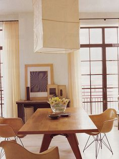 Eames shell chairs by midcenturyjo, via Flickr