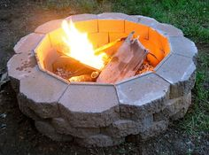 Here's how to build a outdoor DIY fire pit step by step in your backyard. This is a pretty easy project and reasonably inexpensive!