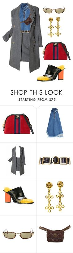 """Untitled #1940"" by lucyshenton ❤ liked on Polyvore featuring Gucci, Marques'Almeida, Karl Lagerfeld, Chanel and Versace"