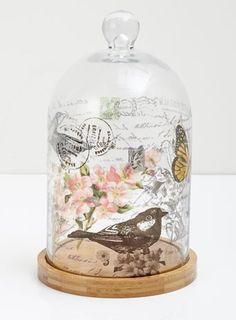 Vintage floral print bell jar from Bhs HOME