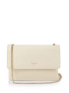 LANVIN Sugar Mini Leather Cross-Body Bag. #lanvin #bags #shoulder bags #leather #canvas #lining #