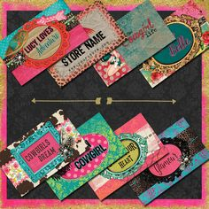Happy hippie business card design junkin in texas pinterest funky business cards and other made to match products that shout unforgettable fun branding made easy with create your own premade design packages colourmoves