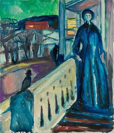On the Veranda Stairs 1922–24 / Oil on canvas / 89 x 76 cm Munch