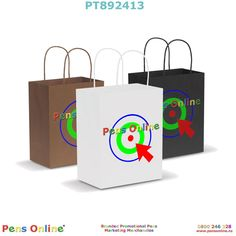 Medium-sized paper carry bag: The natural and black coloured paper bags are made from recycled paper. Branded with your logo by PensOnline in NZ Paper Paper, Paper Crafts, Image Paper, Carry Bag, Colored Paper, Medium Bags, One Color, Screen Printing