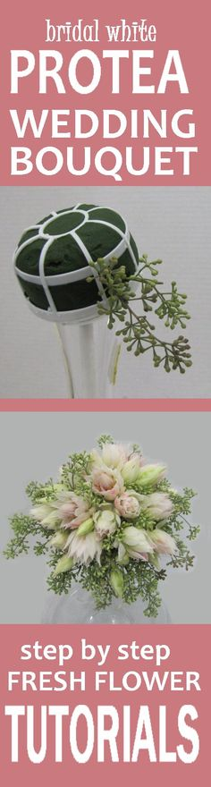 Wedding Bridal Bouquets - Easy Free Fresh Flower Tutorials  Learn how to make bridal bouquets, wedding corsages, groom boutonnieres, church decorations and reception centerpieces.  Buy wholesale flowers and discount florist supplies.