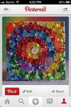 Bead and button art idea