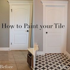 3 All Time Best Useful Ideas: Small Basement Remodeling Cabinets walkout basement remodeling.Easy Basement Remodeling basement remodeling on a budget shower tiles. Painting Tile Floors, Painted Floors, Tile Flooring, Painted Floor Tiles, Painting Ceramic Tile Floor, Flooring Ideas, Painting Over Tiles, Plywood Floors, Plywood Furniture