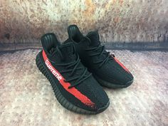abf0ce54c4b79 Final version Adidas Yeezy Boost 350 V2 black red